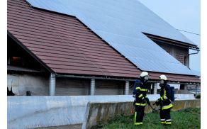 Vaja posredovanja ob požaru sončne elektrarne – kmetija Rus