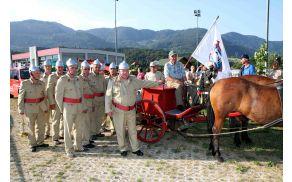 Ekipa Požarne brambe Vransko, ki je pri ročnih brizgalnah osvojila prvo mesto.
