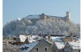 V začetku decembra je Ljubljano pobelil sneg.