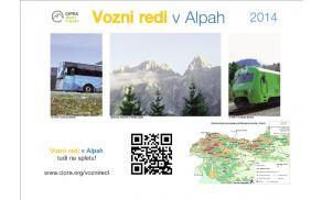 Vozni redi v Alpah 2014