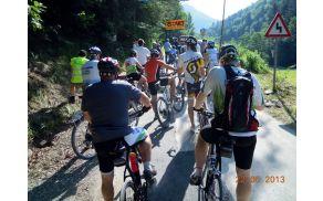 Start kolesarsekega vzpona