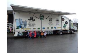 Otroci Vrtca Mavrica na obisku E-transformerja