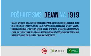 S poslanim SMS-om na 1919 prispevate 1 €