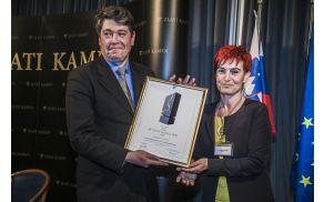 Priznanje za našo občino je na Bledu prevzel župan Milan Turk.