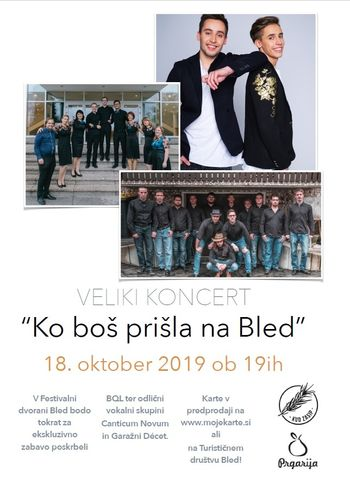"""Veliki koncert """"Ko boš prišla na Bled"""""""