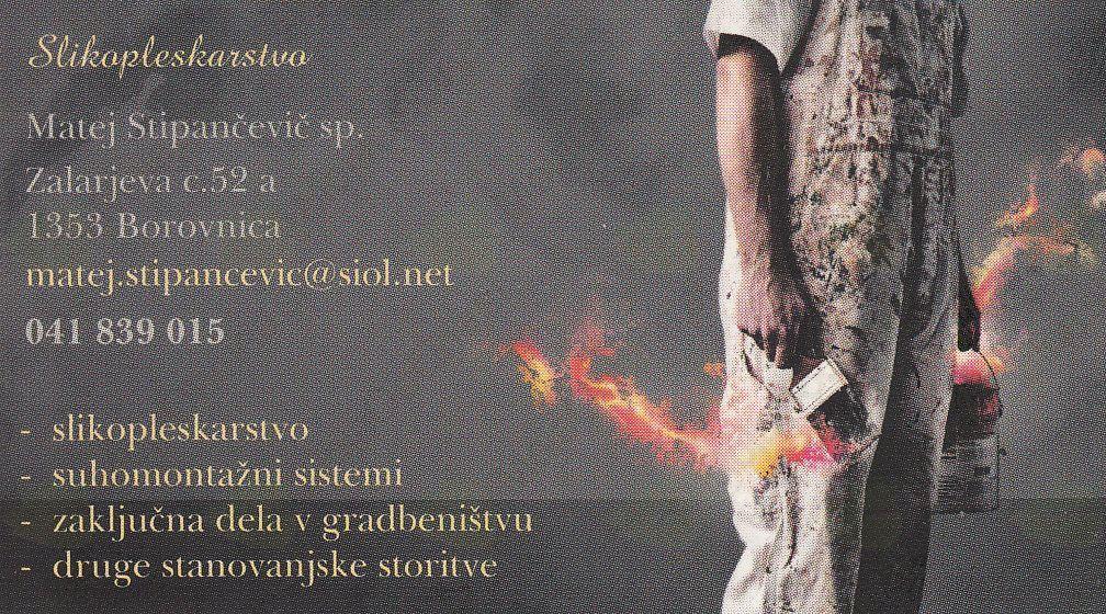 SLIKOPLESKARSTVO, MATEJ STIPANČEVIĆ S.P.