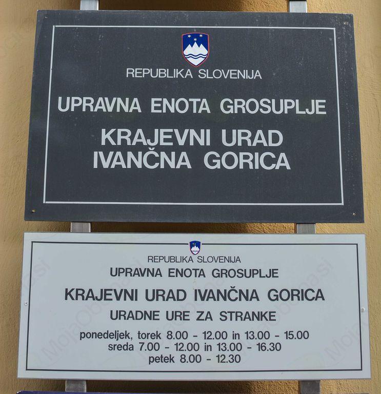 Začasno prenehanje delovanja Krajevnega urada Ivančna Gorica