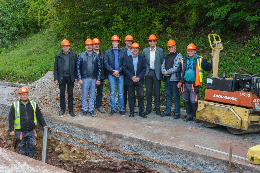 Pričetek gradnje kanalizacije v Žabjeku pri Višnji Gori