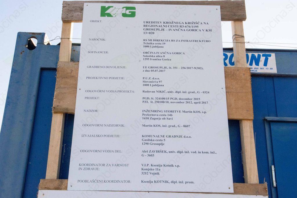 Začela se je gradnja krožišča na zahodni obvoznici v Ivančni Gorici