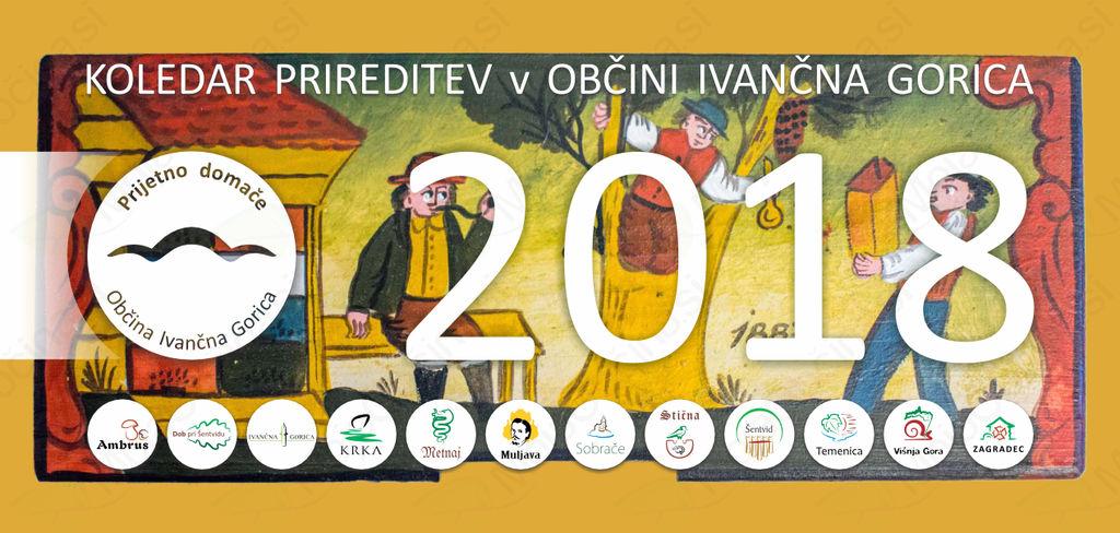 Izšla je knjižica »Koledar prireditev v Občini Ivančna Gorica 2018«
