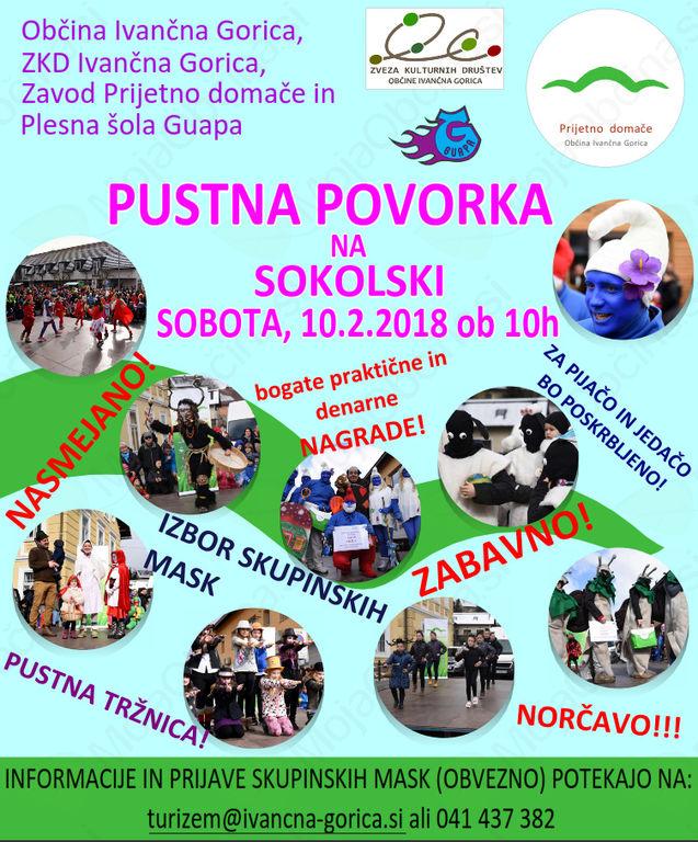 Norčavi pust na Sokolski v Ivančni Gorici