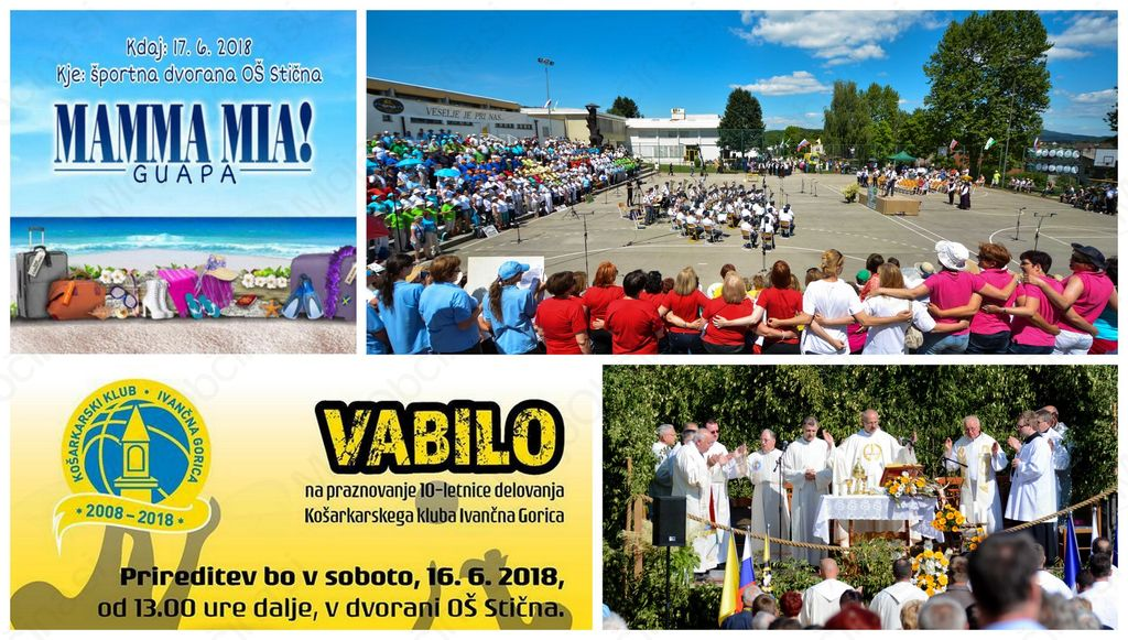 Napovednik dogodkov v občini Ivančna Gorica od 15. do 17. junija 2018