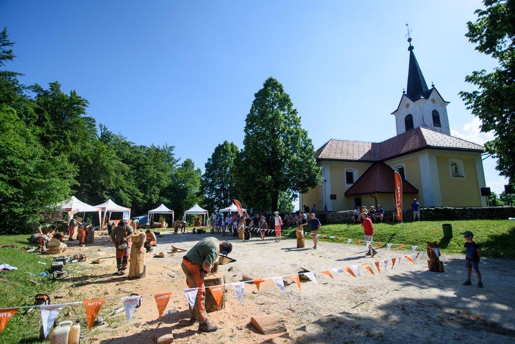 Na Gradišču so kiparili virtuozi na motornih žagah iz celotne Slovenije