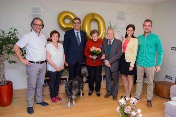 90 let Justine Ljubič iz Stične