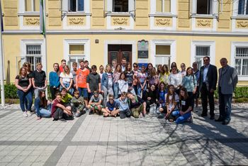 Župan sprejel učence iz pobratene občine Hirschaid