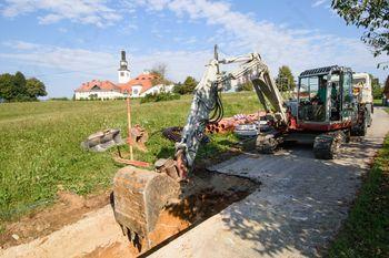 Obnova kanalizacije in vodovoda na Rimski cesti v Ivančni Gorici