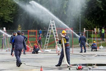 Naši gasilci uspešno tekmovali na memorialu Matevža Haceta 2018