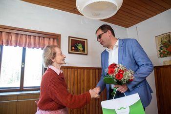 90 let Bregar Angele iz Gabrovčca