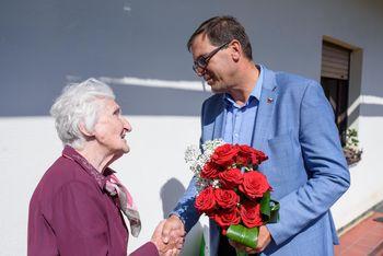 90 let Marije Kovačič iz Stične