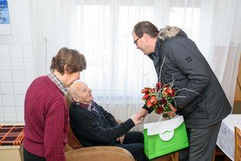 90 let je praznoval Frančišek Kastelic iz Stične