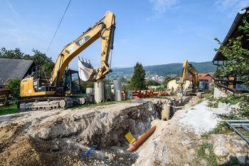 Izgradnja kanalizacije v Stični poteka hitro in strokovno