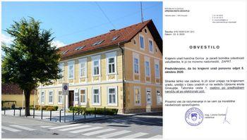 Obvestilo Upravne enote Grosuplje o delovanju Krajevnega urada Ivančna Gorica