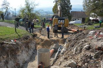 Gradnje kanalizacije Stična 5. faza napreduje