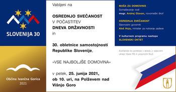 Na Polževem bomo voščili naši domovini Sloveniji