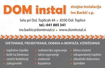 DOM INSTAL, strojne instalacije Ivo Barbič s.p.