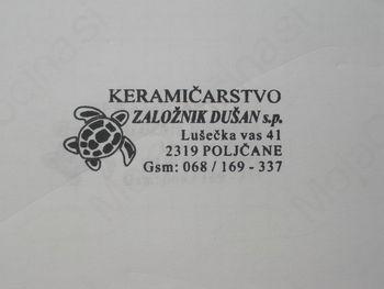 KERAMIČARSTVO, DUŠAN ZALOŽNIK S.P.