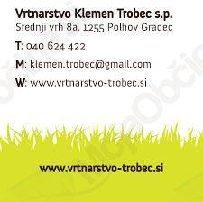 VRTNARSTVO, KLEMEN TROBEC S.P.