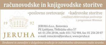 JERUHA D.O.O. SVETOVANJE, ZASTOPANJE FINANČNO RAČUNOVODSKE STORITVE, BOROVNICA