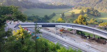 Odprtje nadvoza nad železnico in ceste proti pokopališču
