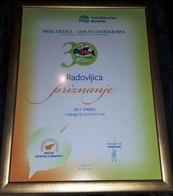 Radovljica na prvem mestu med turističnimi kraji v Sloveniji