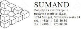 SUMAND PODJETJE ZA SVETOVANJE IN POSLOVNE STORITVE, D.O.O.