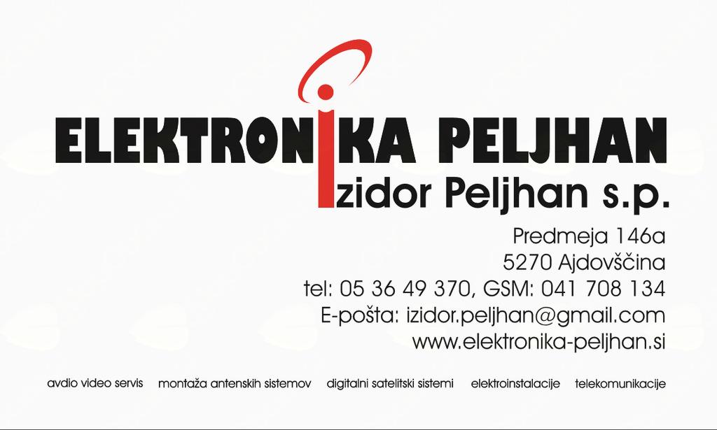 ELEKTRONIKA PELJHAN IZIDOR PELJHAN S.P.