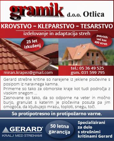 GRAMIK GRADBENO IN TRGOVSKO PODJETJE D.O.O. OTLICA