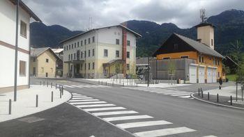 Uradno odprtje urejene regionalne ceste skozi Bohinjsko Bistrico
