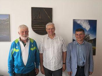 Prvi podpredsednik OKS-ZŠZ, mag. Janez Sodržnik na obisku v Občini Bohinj