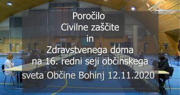 16. redna seja Občinskega sveta - poročilo civilne zaščite Občine Bohinj in zdravstvenega doma Bohinj