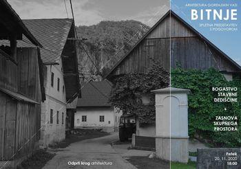Vabilo na videokonferenco - Arhitektura Gorenjskih vasi: Bitnje