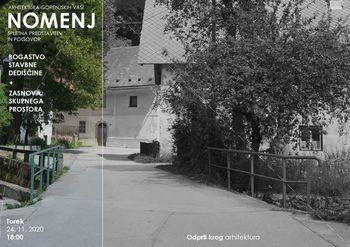Vabilo na videokonferenco - Arhitektura gorenjskih vasi: Nomenj