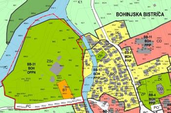 Javna razgrnitev dopolnjenega osnutka Občinskega podrobnega prostorskega načrta za območje urejanja EUP BB-31 Kamp Danica v Bohinjski Bistrici