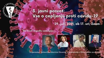 3. javni posvet: Vse o cepljenju proti covidu-19