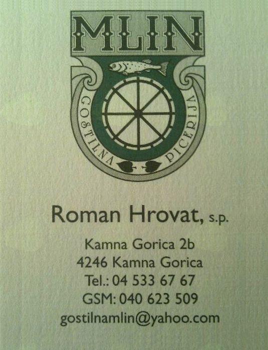 GOSTINSTVO IN VODENJE POSLOVNEGA PROCESA ROMAN HROVAT, S.P.