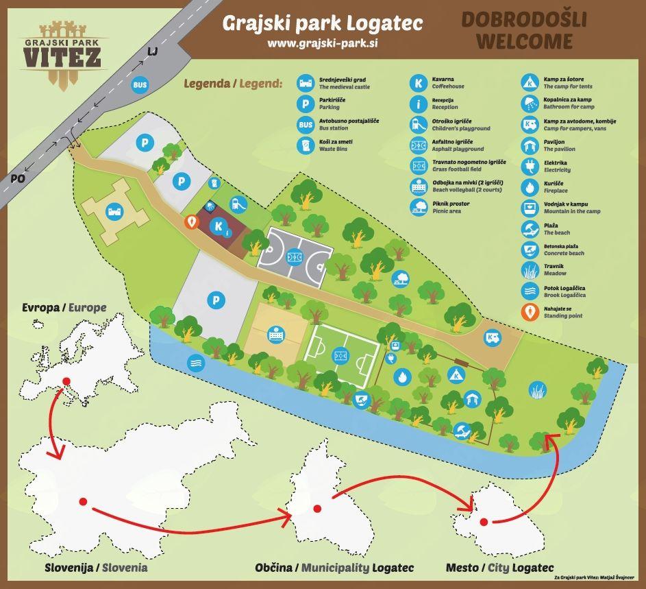 Grajski park Vitez
