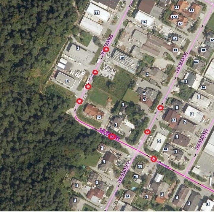 Polovična zapora lokalnih cest (Gmajna, Peske, OIC Trzin-Dobrave) od 14. do 24. 9. 2021