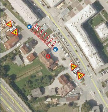 Delna zapora dela občinske ceste - Ljubljanska cesta 5a