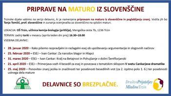 Priprave na maturo iz slovenščine