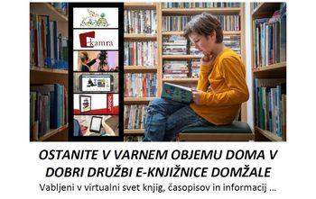 Obvestilo Knjižnice Domžale - VIRTUALNA KNJIŽNICA